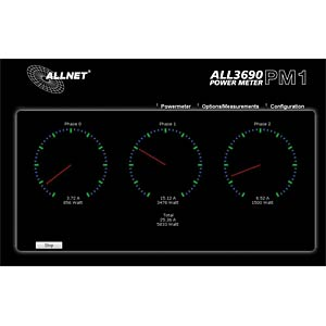 ALLNET power meter, 3 phases LAN current measurement ALLNET ALL3690