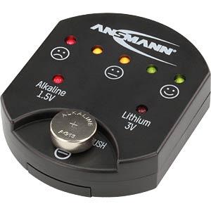 Batterietester für Alkaline- und Lithium-Knopfzellen, analog ANSMANN 1900-0035
