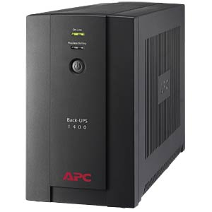 APC Back-UPS 700W-1400VA 230V- 4 Ausgänge APC BX1400U-GR