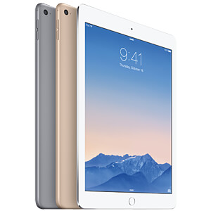 Apple iPad Air 2, 128 GB, Wi-Fi+Cellular, Silber APPLE MH322FD/A
