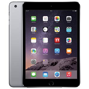 iPad mini 4, 128 GB, Wi-Fi+Cellular, Space Grau APPLE MK8D2FD/A