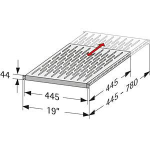19 inch schap 1HE, RAL 7035 APRA-NET 316-036-99