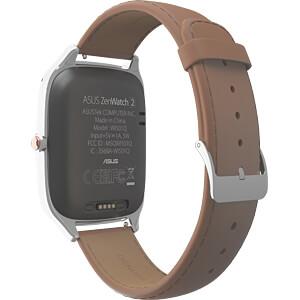 Smartwatch, ZenWatch 2, silber, Lederarmband camel ASUS 90NZ0041-M00990