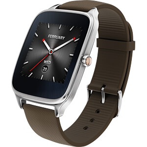 Smartwatch, ZenWatch 2, silber Softarmband taupe ASUS 90NZ0042-M01150