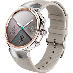 Smartwatch, ZenWatch 3, silber, Silikonarmband beige ASUS 90NZ0064-M00040