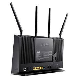 WLAN Router 2.4/5 GHz ADSL/VDSL 2400 MBit/s ASUS 90IG02M0-BM3H00