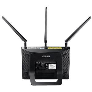 AC1750 dual-band Gigabit router, black ASUS 90-IGY7002M01-3PA0-