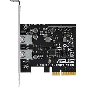 USB 3.1 controller, 2-port, type A, PCI Express card ASUS 90MC0360-M0EAY0
