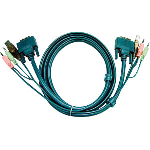 ATEN 2L-7D02U - KVM Kabel DVI-D (Single Link)