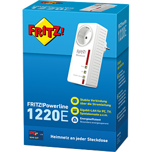 AVM FRITZ!Powerline 1220E Single Adapter AVM 20002736