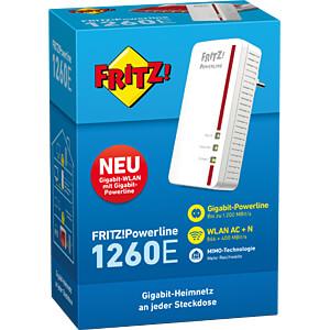 FRITZ!Powerline 1260E Single Adapter AVM 20002789