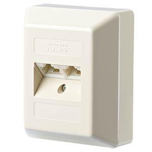 IAE design 2x8(4)R AP perlweiß RAL1013 METZ CONNECT 130040001-I