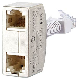 Cable sharing Adapter pnp 3 - Ethernet / Ethernet METZ CONNECT 130548-03-E