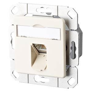 E-DAT CAT.6 1 Port UPk perlweiß RAL1013 METZ CONNECT 1307371101-I