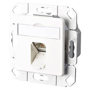 E-DAT CAT.6 1 Port UPk reinweiß RAL9010 METZ CONNECT 1307371102-I