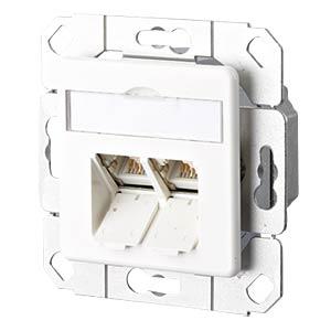 E-DAT CAT.6 2 Port UPk reinweiß RAL9010 METZ CONNECT 1307381102-I