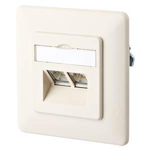 E-DAT design 2 Port UP perlweiß RAL1013 METZ CONNECT 1307441001-I