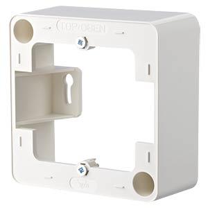 Aufputzrahmen 85x85 mm reinweiß RAL9010 METZ CONNECT 130829-02-I