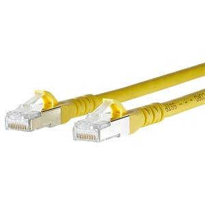 Patchkabel RJ45 Cat.6A  S/FTP  1,0 m gelb METZ CONNECT 1308451077-E