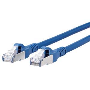 Patchkabel RJ45 Cat.6A  S/FTP  1,5 m blau METZ CONNECT 1308451544-E