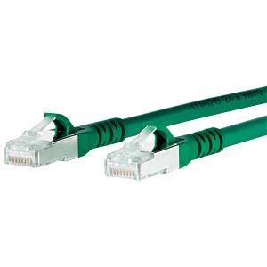Patchkabel RJ45 Cat.6A S/FTP  7,0 m grün METZ CONNECT 1308457055-E