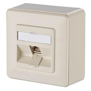 E-DAT modul 1 Port AP Cat.6A  perlweiß METZ CONNECT 1309110001-E
