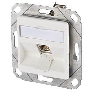 E-DAT modul 1 Port UPk Cat.6A reinweiß METZ CONNECT 1309111102-E