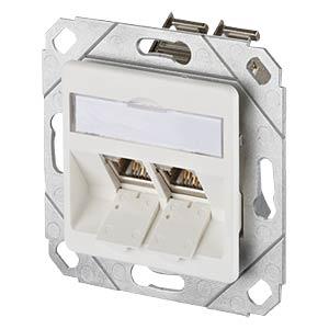 E-DAT modul 2 Port UPk Cat.6A reinweiß METZ CONNECT 1309121102-E