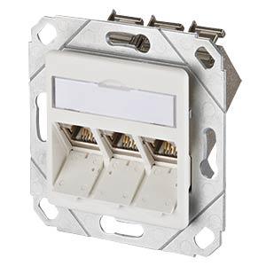 E-DAT modul 3 Port UPk Cat.6A reinweiß METZ CONNECT 1309131102-E