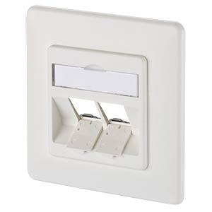 Modul Anschlussdose UP 2 Port  reinweiß METZ CONNECT 1309151002-E