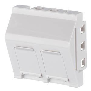 Keystone Anschlussdose 45x45  2 Port  reinweiß METZ CONNECT 130915J4502KE