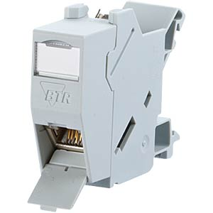 1x RJ45 Buche IP20 Cat.6A, Hutschienemontage METZ CONNECT 1309426003-E
