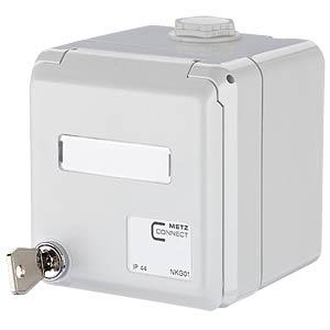 Modul IP44SG AP-Gehäuse grau unbestückt METZ CONNECT 1309460003-I