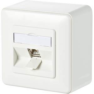C6Amodul 1 Port 180° AP reinweiß METZ CONNECT 130B11D10002-E