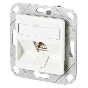 CAT.6A modul 1 Port 180°M UPk reinweiß METZ CONNECT 130B11D11102-E
