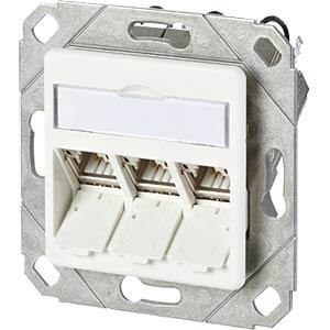 CAT.6A modul 3 Port 180°M UPk reinweiß METZ CONNECT 130B11D31102-E