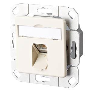 E-DAT CAT.6A 1 Port UPk perlweiß METZ CONNECT 130C371101-I