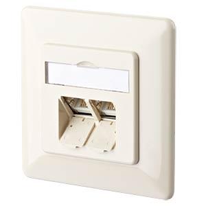E-DAT CAT.6A 2 Port UP perlweiß METZ CONNECT 130C381001-I