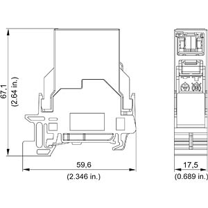 RJ45 connector, 2x sockets, IP 20 Cat.6 Class E METZ CONNECT 1401206113KE