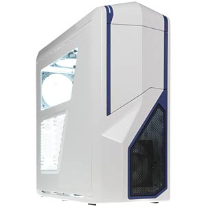 NZXT Phantom 410 midi tower — white/blue NZXT CA-PH410-W2