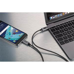 USB 3.1 Kabel, C Stecker auf C Stecker, 1 m CABSTONE 72688