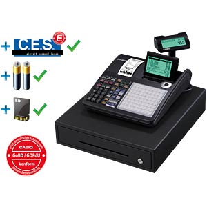 Electronic Cash Register - black CASIO SE-C450MB-FIS