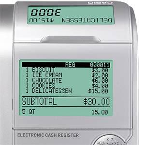 Electronic Cash Register - silver CASIO SE-S400MB-SR-FIS