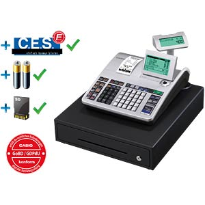 Electronic Cash Register - silver CASIO SE-S400MB-SR-FIS