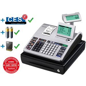 Einzelkasse mit Geldlade & GDPdU-Software CASIO SE-S400SB-SR-FIS