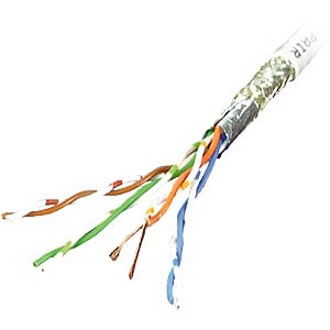 CAT 5 installation cable, SF/UTP, 100 MHz, 100 m FREI