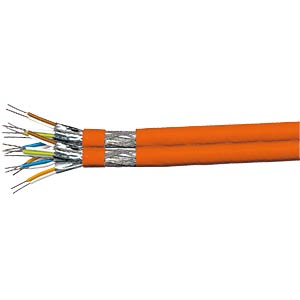 CAT-7 twin installation cable, 1000 MHz, 100 m FREI