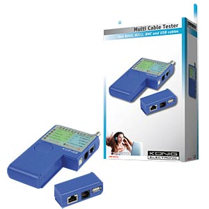 Cable tester for RJ45, RJ11, USB cable FREI