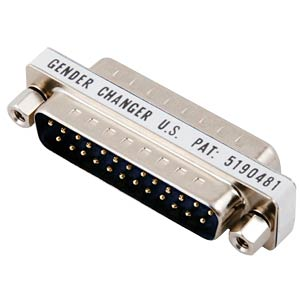 COM 1000 - Gender Changer,Adapter,2x 25-pol. D-Sub ST/BU