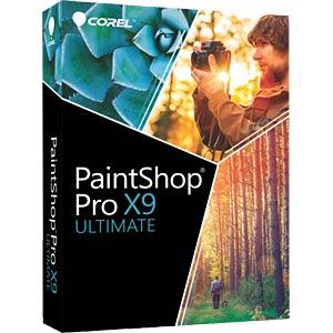 Bildbearbeitungsprogramm und Bonussammlung COREL PSPX9ULDEMBEU